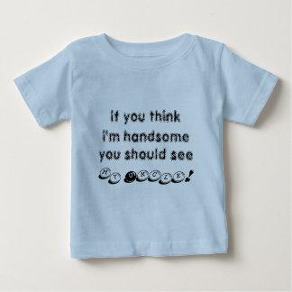 Si usted piensa que soy hermoso, usted debo ver a playera de bebé