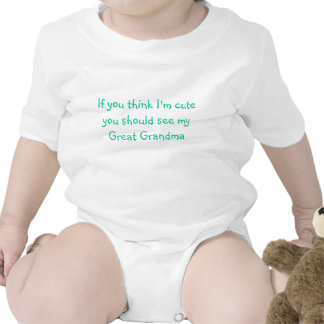 Si usted piensa que soy lindo usted debe ver mi gr trajes de bebé