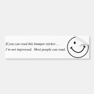 Si usted puede leer a esta pegatina para el parach pegatina para auto