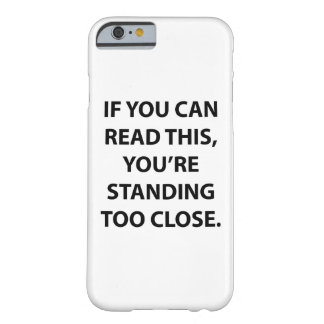 Si usted puede leer esta caja funda barely there iPhone 6