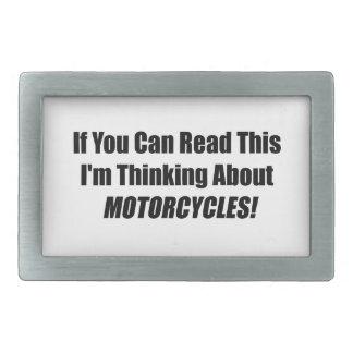 Si usted puede leer este Im que piensa en las moto Hebilla Cinturon Rectangular