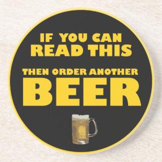 Si usted puede leer esto entonces pida otra CERVEZ Posavasos Cerveza