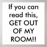 ¡Si usted puede leer esto, SALGA DE MI SITIO!! Poster