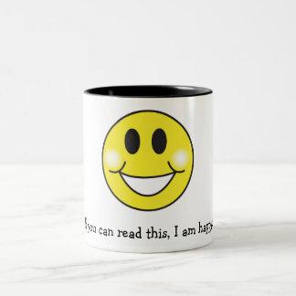 Si usted puede leer esto soy feliz tazas