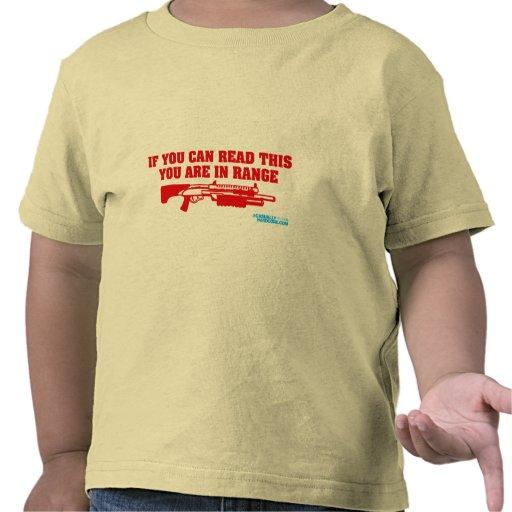 Si usted puede leer esto usted está en escopeta de camiseta
