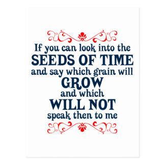 Si usted puede mirar en las semillas del tiempo postales