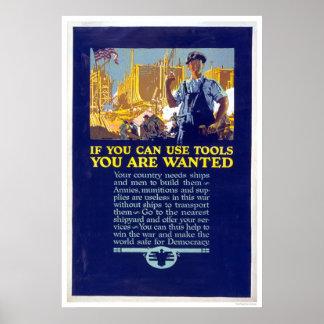 Si usted puede utilizar las herramientas le quiere póster