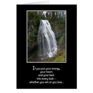 Si usted puso su energía… tarjeta de felicitación