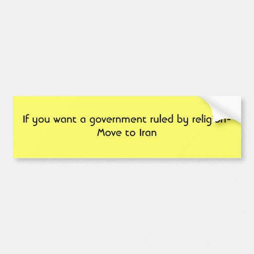 Si usted quiere a un gobierno gobernado por los mo pegatina de parachoque