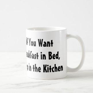 Si usted quiere el desayuno en taza de café de la