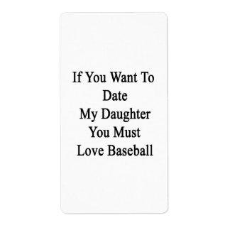 Si usted quiere hasta la fecha a mi hija usted etiquetas de envío