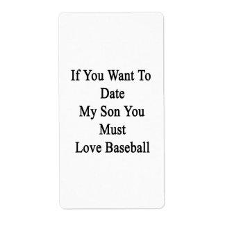 Si usted quiere hasta la fecha a mi hijo usted etiquetas de envío