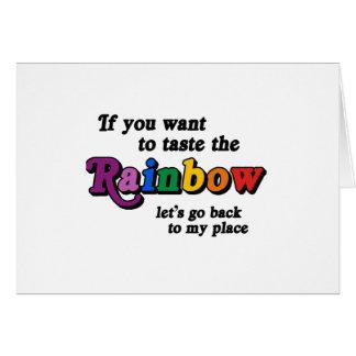 Si usted quiere probar el arco iris felicitaciones