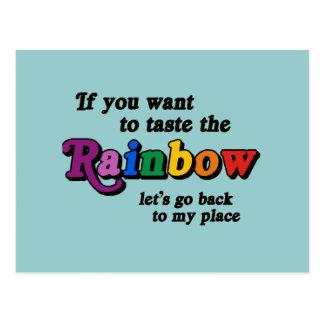 Si usted quiere probar el arco iris tarjetas postales