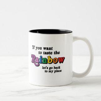Si usted quiere probar el arco iris tazas