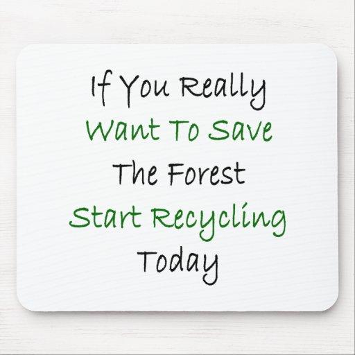 Si usted quiere realmente ahorrar el comienzo Recy Tapetes De Ratones