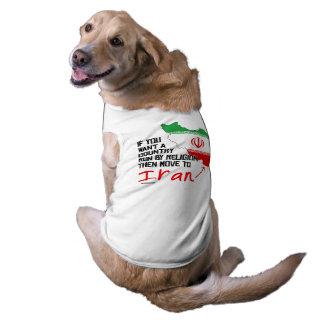 Si usted quisiera que un país corriera por la playera sin mangas para perro