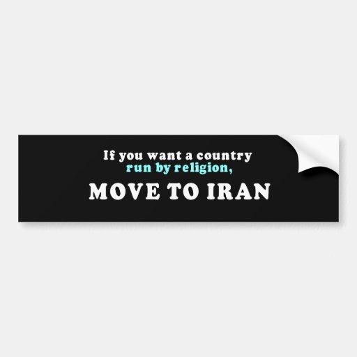Si usted quisiera que un país corriera por movimie etiqueta de parachoque
