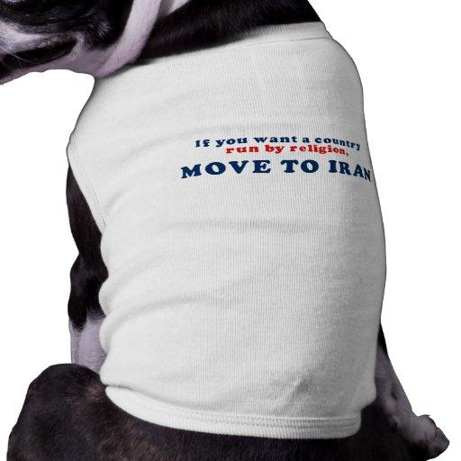 Si usted quisiera que un país corriera por movimie ropa de mascota