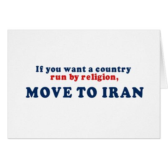 Si usted quisiera que un país corriera por movimie tarjeta de felicitación
