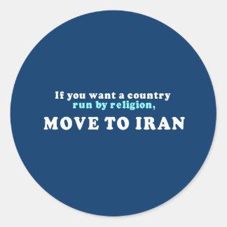 Si usted quisiera que un país corriera por pegatina redonda