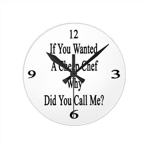 Si usted quiso a un cocinero barato porqué usted m reloj