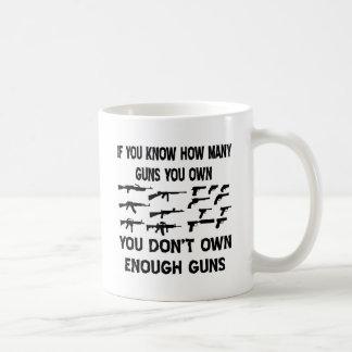Si usted sabe cuántos armas usted le posee no taza básica blanca