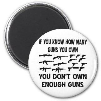 Si usted sabe cuántos armas usted posee imán de frigorifico