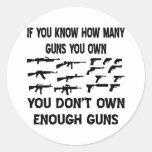 Si usted sabe cuántos armas usted posee etiquetas redondas