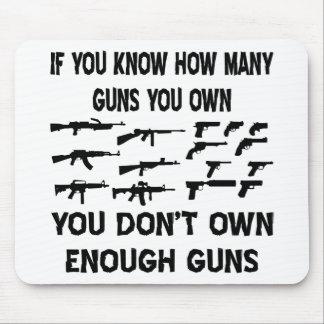 Si usted sabe cuántos armas usted posee tapete de ratón