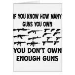 Si usted sabe cuántos armas usted posee tarjeta