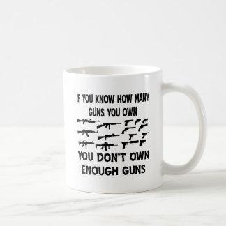 Si usted sabe cuántos armas usted posee taza