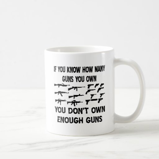 Si usted sabe cuántos armas usted posee taza básica blanca