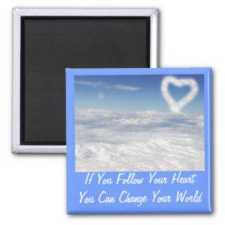 Si usted sigue su corazón imán cuadrado