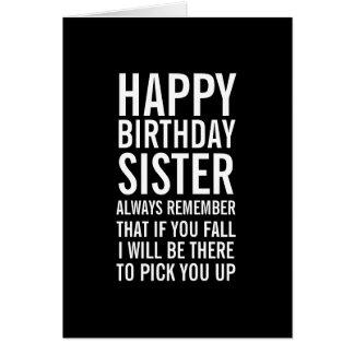 Si usted tarjeta divertida del feliz cumpleaños de