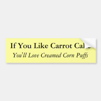 Si usted tiene gusto de la torta de zanahoria pegatina para auto