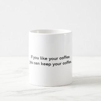 Si usted tiene gusto de su taza de café