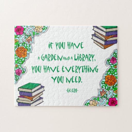 Si usted tiene un jardín y una biblioteca - rompec rompecabezas