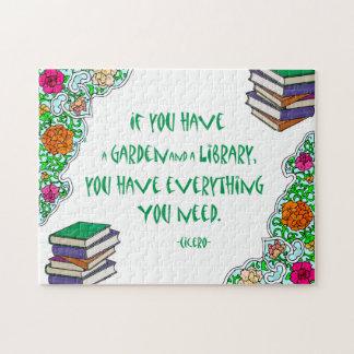 Si usted tiene un jardín y una biblioteca - rompecabezas
