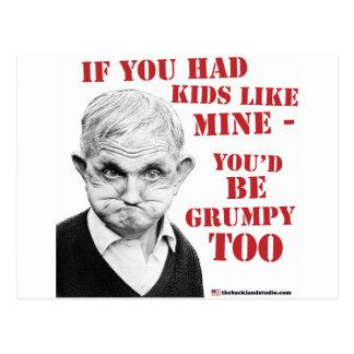¡Si usted tuviera niños como la mina usted sería g Tarjeta Postal