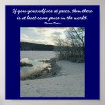 Si usted usted mismo está en la paz,… poster