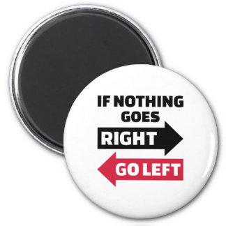 Si va nada a la derecha vaya a la izquierda imán para frigorífico