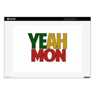 Sí vacaciones jamaicanas de lunes skins para 38,1cm portátil