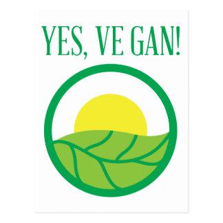 ¡Sí vegano! Postal
