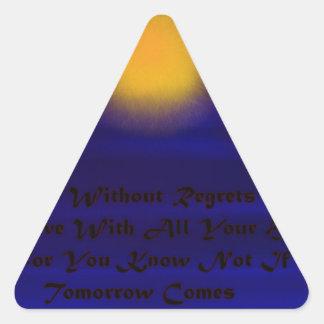 SI viene mañana Pegatina Triangular