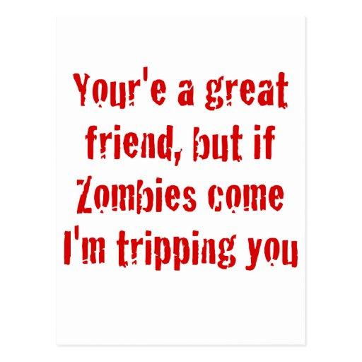 Si vienen los zombis Im que le disparan Tarjeta Postal