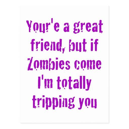 Si vienen los zombis Im que le disparan totalmente Tarjetas Postales