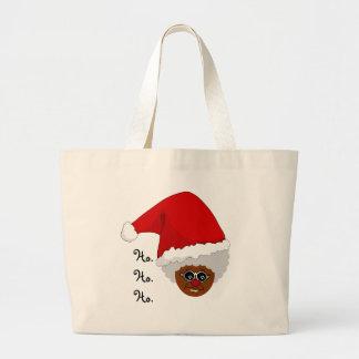 Sí, Virginia, hay un Papá Noel negro Bolsa Lienzo