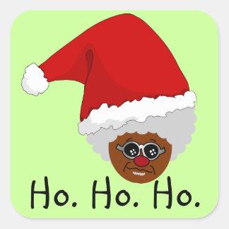 Sí, Virginia, hay un Papá Noel negro Calcomanías Cuadradas