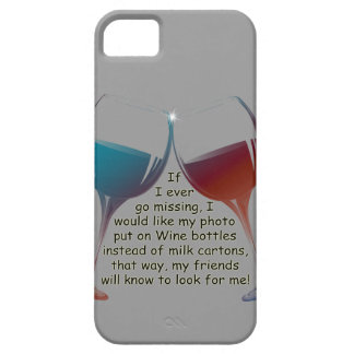 Si voy nunca a faltar… el vino de la diversión que funda para iPhone SE/5/5s